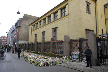 jews: Copenhagen-Denamrk ,  24 Febuary 2015   _Danish jews concluded today  7 days tradion in sorrow and grief