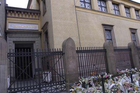 14: Dinamarca  _25 02 2015-Polic�a presenta en Extebded la pr�xima semana hasta el monumento a Judios sinagoga de Krystalgade en Copenhague Jeews dolor y la tristeza termin� oficialmente la noche del lunes, 14 de febrero 2015 aynagigue se terrrorest atacado y hombre judio