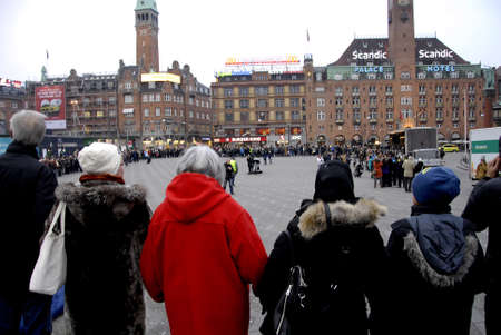 thou: Copenhagen-Denamrk ,  27 Febuary 2015  _Peace protest at Copenhagen city hall peace protest was arranged by muslim faith young men by pakistani immigrants parents and they are inspired by Oslo peace marc protact Olso jews synagigue,here in Copenhagen thou Editorial