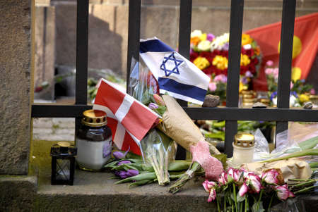 COPENHAGENDENMARK. 05 March 2015 _Heavy police presents at Danish jews synagogue and other danish jews institions around Denmark while d anish politican debating how keep danish jews safe and more protaction to their insitutions  and also more money to d Editorial