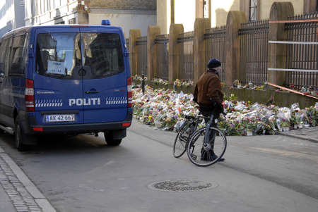 politican: COPENHAGENDENMARK. 05 March 2015 _Heavy police presents at Danish jews synagogue and other danish jews institions around Denmark while d anish politican debating how keep danish jews safe and more protaction to their insitutions  and also more money to d Editorial