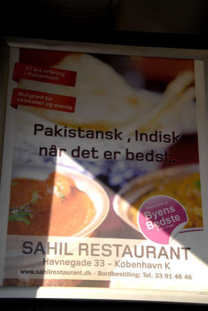 pakistani pakistan: .Copenhagen.Denamrk _Pakistan food restaurant unable to sell Pakistani food untill they mention Indian dish along with menu                 20 March 2015