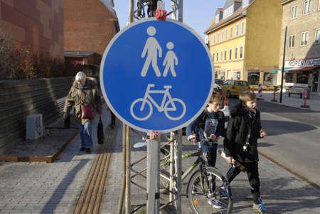Kastrup.Copenhagen.Denamrk_New face of Kastruplundgade in Kastrup, more parking places for shoppers and mor comfortable bench for eldlery peoples                   20 March 2015