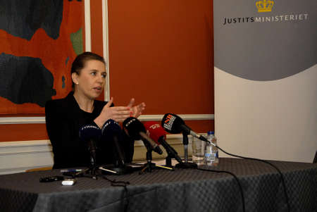 conclude: COPENHAGENDENMARK. 19 March 2015 _Ms. Mette Frederiksen holds press conference to pressent conclude report on terrorist attacked in Copenhagen on 14 February (Pressemøde om myndighederbnes) minister high point but due to security can give informtion to p Editorial
