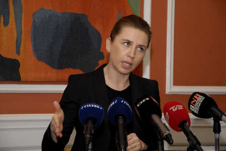 conclude: COPENHAGENDENMARK. 19 March 2015 _Ms. Mette Frederiksen holds press conference to pressent conclude report on terrorist attacked in Copenhagen on 14 February (Pressem�de om myndighederbnes) minister high point but due to security can give informtion to p