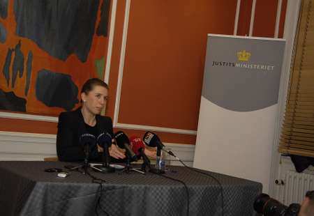 conclude: COPENHAGENDENMARK. 19 March 2015 _Ms. Mette Frederiksen holds press conference to pressent conclude report on terrorist attacked in Copenhagen on 14 February (Pressemde om myndighederbnes) minister high point but due to security can give informtion to pu
