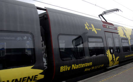tog: .Copenhagen.Denamrk _28 March 2015_DSB s localelectric  train with artist images