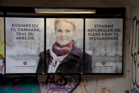 danish prime minister: .Copenhagen.Denamrk _28 March 2015_ Ms.Helle Thorning-Schmidt danish prime minister and leader of danish social democrat political party with strong message to Immigrants and refugees those have not foud  workd,message here you need to work if you want to