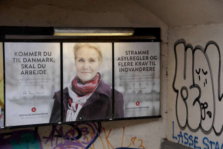 .Copenhagen.Denamrk _28 March 2015_ Ms.Helle Thorning-Schmidt danish prime minister and leader of danish social democrat political party with strong message to Immigrants and refugees those have not foud  workd,message here you need to work if you want to