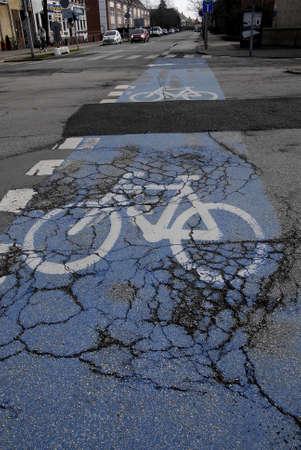 raod: Kastrup.Copenhagen.Denamrk    28  March 2015    _road needs to repari by taarnby council alleen and kastruplundgade traffoc light singal
