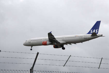 kastrup: Kastrup.Copenhagen.Denamrk    29  March 2015_SAS airlines has made changes never leave single person in cockpt there willalway two person in cockpit in awake of germanwing crashed in French aplas. SAS flights landing at Kastrup interntional airport in Kas
