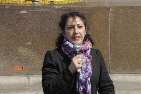 .Copenhagen.Denamrk _11 April 2015_ Hazara community living in Copenhagen shiite by faith protesting infront the danish aprliament aginst kidnapping 31 hazaras in Afganistan, Mr.president break your strategic silence and brik back hostages from there were
