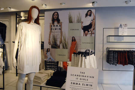 retail chain: .Copenhagen.Denamrk _13 Aprile 2015_ collezioni Emma Elwin vende t svedese catena retail Ginatricot a K�bmagergade a Copenhagen Editoriali