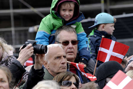 .Copenhagen.Denamrk _16 April 2015_  H.M.The Queen Mrgrethe II of Denmark celebrates her 75 years birthday with family Crown princess Mary,prince marie,prince Joachim and Crown prince Frderiks and with quee grandsons and granddaughter are among on Amalien