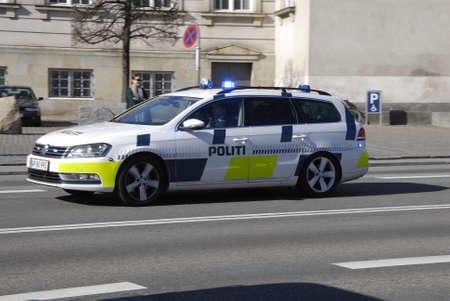 bil: .Copenhagen.Denamrk _17 April 2015_  Danish police cars in  action