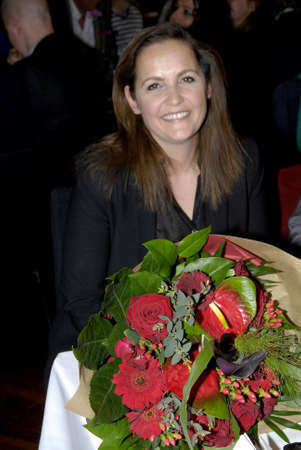 sf: .Copenhagen.Denamrk _18 April 2015_Ms.Pia Olsen Dyhr for erm minister and now  leader and chairwoman of danish SF socialist people party (SFs landsmde 2019) speaks at her party annual conference and also speak her party agenda no social dumping on danish
