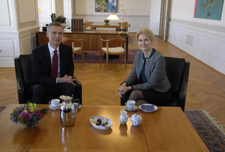 pm: .Copenhagen.Denamrk _20 April 2015_   Ms.Hell Thorning-Scmhidt meets Nato General Secretary Jens Stoltenberg and holds political talk at Pm office today on monday Editorial