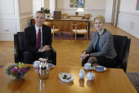 francis dean: .Copenhagen.Denamrk _20 April 2015_   Ms.Hell Thorning-Scmhidt meets Nato General Secretary Jens Stoltenberg and holds political talk at Pm office today on monday Editorial