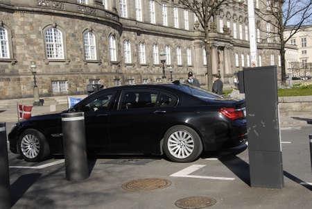 danish prime minister: .Copenhagen.Denamrk _20 April 2015_   Heavey police present during visit of Nato Srcretary General Jens Stoltenbrg to visit to Danish prime minister office and danish aprliament folketinget today on monday
