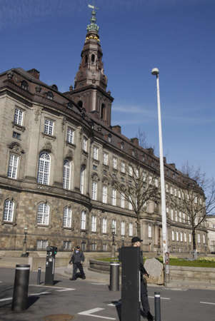 francis dean: .Copenhagen.Denamrk _20 April 2015_   Heavey police present during visit of Nato Srcretary General Jens Stoltenbrg to visit to Danish prime minister office and danish aprliament folketinget today on monday