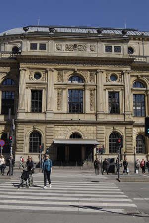 det: COPENHAGENDENMARK. 21April 2015   -Royal theater building det kongelig teater on kongens nytorv Editorial