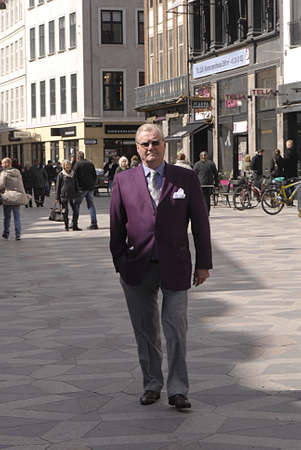 prince of denmark: DENMARK  COPENHAGEN . Prince Henrik of Denmark(Queen Margrethe husband)by himslef with police security or body guards walk by himself at famous stree Stroeget(strget)Amager torv , after busy week of celebration of Queen Margrethe II 70 years birthday, to Editorial
