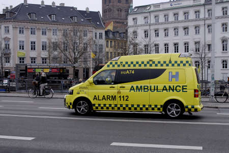 francis dean: .Copenhagen.Denamrk _25 April 2015_  Danish medical ambulance run by the country council Editorial