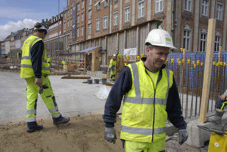 francis dean: .Copenhagen.Denamrk _27 April 20015 Foreign metro contruction workers far away from New Zealand Irland and among other european counries at Gl.Strand metro construction site today on monday Editorial