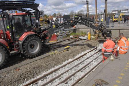 francis dean: HillerodHillerd Denamrk 28 April 2015_ DSB train track workers
