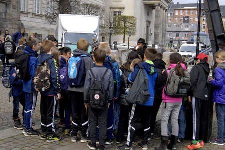 childen: COPENHAGENDENMARK. 30 April 2015  _Stop child labour work  is arranged children Action day by the IBIS  danish ngo the event takes place infron the Danish aparliament christiansborg  today