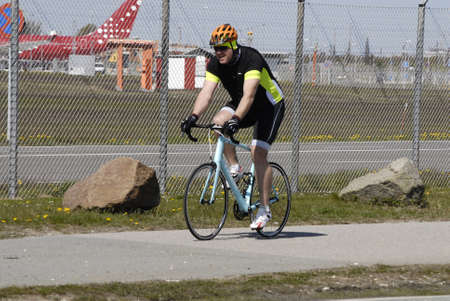 almost all: Kastrup.Copenhagen.Denamrk    03 May  2015   _Denmark has become a biking nation people cycle to work exercise and fitness too and almost all roads are marked with bike lanes