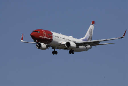 kastrup: Kastrup.Copenhagen.Denamrk    03 May  2015 _Norwegian.com flight landing at Copenhagen Interntional Airport i Kastrup