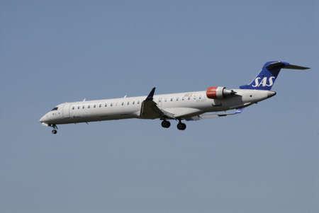 Kastrup.Copenhagen.Denamrk    03 May  2015 _SAS flight make ladning at Copenhagen Interntional Airport i Kastrup today o su day