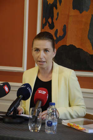 francis dean: Copenhagen Denamrk _06 May 2015_  Ms.Mette Frederiksen minister for law and order r justic minister high light the police assesment report about terrorest attached in  cape and syngague