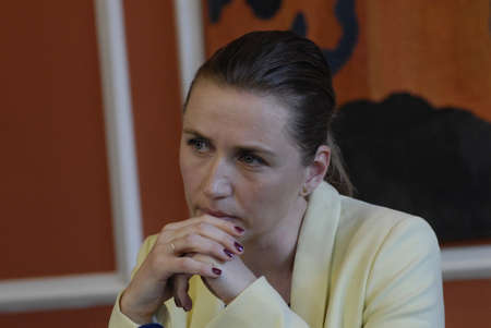 minister: Copenhagen Denamrk _06 May 2015_  Ms.Mette Frederiksen minister for law and order r justic minister high light the police assesment report about terrorest attached in  cape and syngague
