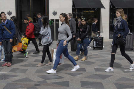francis dean: Copenhagen Denamrk _11 May 2015_   Shoppers on streeget on monday sunny may day