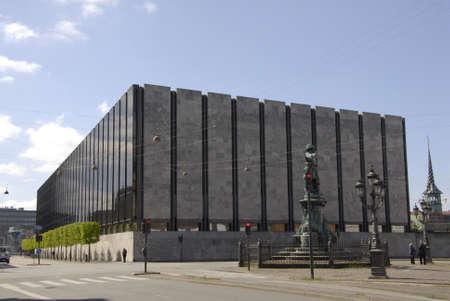 コペンハーゲンDenamrk _14 デンマークの natrional の 5 月 2015_ 建物やデンマークの国立銀行