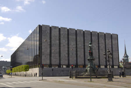 Copenhagen Denamrk _14 May 2015_  Building of danish natrional or national bank of Denmark Редакционное