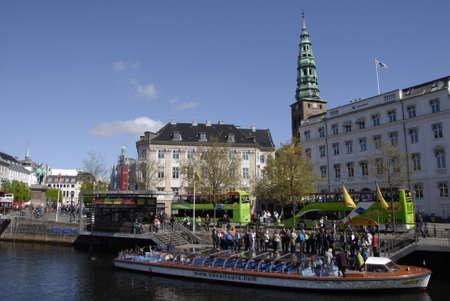 may fly: Copenhagen Denamrk _14 May 2015_ Foreign visitor on religios holyday danish flag fly over danish aprliament folketinget                   (Pho Editorial