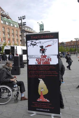 marched: Copenhagen Denamrk _18 May 2015_  Tamil Eelam immigrants living in Denmark staged ptoest march against Sri Lanka government  stop genocide protesters marched from Palrimane to Copenhagen city hall today on monday