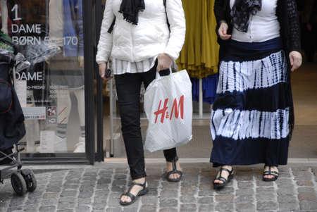 hm: Copenhagen Denamrk _18 May 2015_ Swedish chain H&M  stor o stroget opens on sunday