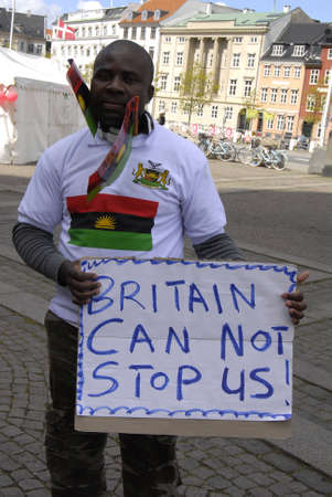 heros: COPENAHGEN DENAMRK 30 May 2015_   Handfull Nigerian stanged free dom protest infron of danish parliament today Rememberance o our fallen heros and heorines 6.5 million bifrans killed during the genocide war Nigerian and Biafran war, Freedom march for Bia