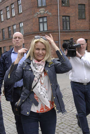 danish prime minister: COPENAHGEN DENAMRK 31 May 2015_ Ms.Helle Thorning-Schmidt danish prime minister  Meets her Consituents for her relections campaign at Amager center today on sunday Editorial