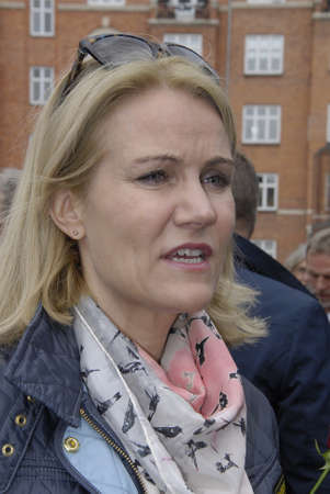 prime minister: COPENAHGEN DENAMRK 31 May 2015_ Ms.Helle Thorning-Schmidt danish prime minister  Meets her Consituents for her relections campaign at Amager center today on sunday Editorial