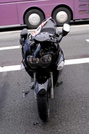 confiscation: COPENAHGEN DENMARK 20 June  2015_  Police confiscation motor bike