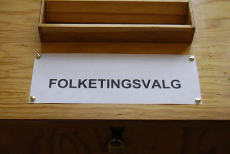 parliamentary: Kastrup.Copenhagen.Denmark  18 June  2015_Danish rushing to Polling station to cast their vote for parliamentary election