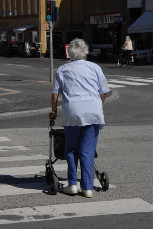 councils: Kastrup.Copenhagen.Denmark  11 July  2015  Valuable seniors danes do get help from councils for walker and wheel chairs to make daily persoanl use Editorial