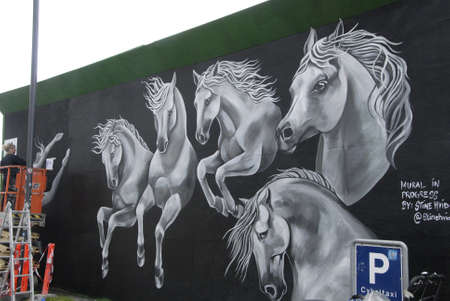 commission: CopenhagenDenmark 13 July 2015_Mural in progress by Stina Hvid commission by Metro firm Editorial
