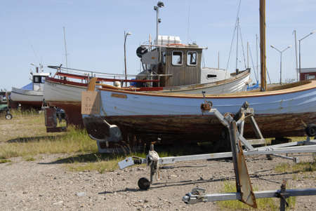 habour: Kastrup.Copenhagen.Denmark  16 July  2015 Not much life at kastrup fishing habour Editorial