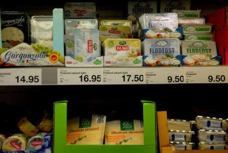food chain: Kastrup.Copenhagen.Denmark  19 July  2015   _Consumers life at German food chain Aldi grocery store